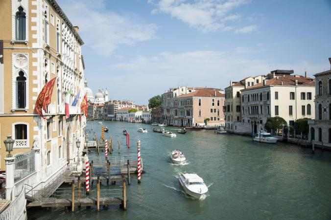 River Canal in Venice, Italy