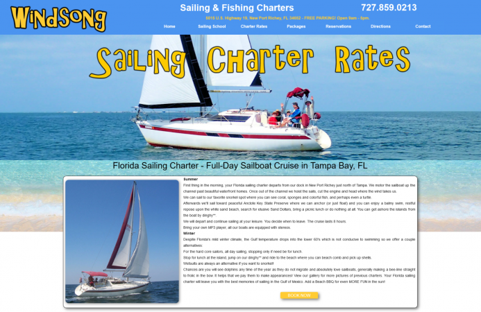 Windsong Sailing Florida Charter