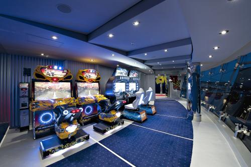 Kid-friendly arcade aboard MSC Divina