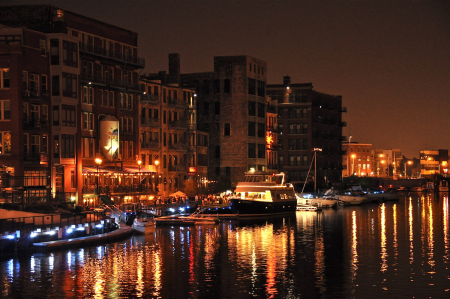 Milwaukee Boat Line at Night