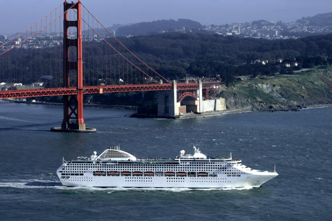 Cruise ship in San Francisco