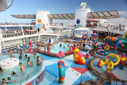 The H20 zone onboard Royal Caribbean's Oasis of the Seas