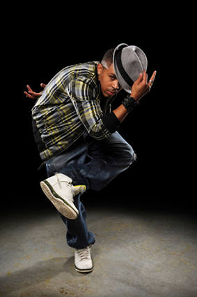 X Hip Hop Dancer on Famous Jitterbug Dance Steps