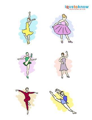 Dance figures clip art