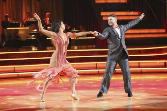 Dancer Cheryl Burke with partner Jack Osbourne