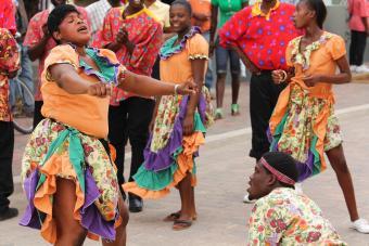 Jamaican street performers