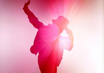 Michael Jackson look alike dancer