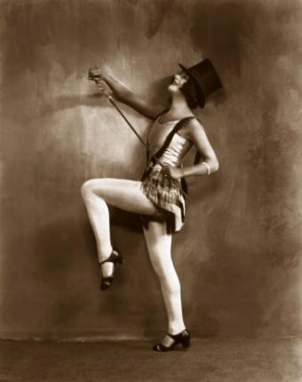 Tap dancer with top hat