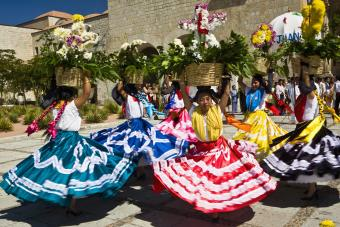 Female Mexican Folk Dancers