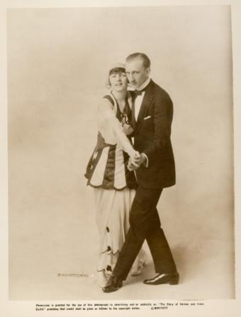 Vernon and Irene Castle dancing