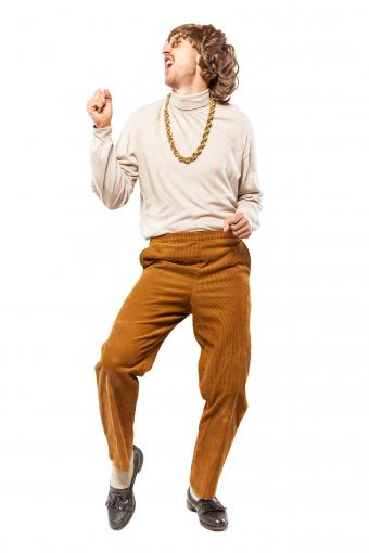 Dancing Retro Seventies Man
