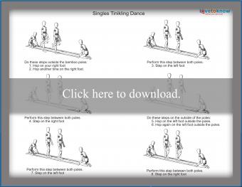 Filipino Singles Tinikling Dance Step