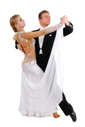 A formal couple dancing the waltz