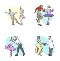 50s dance clip art collection