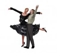 arms high ballroom dance clip art