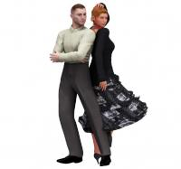 back to back ballroom dance clip art