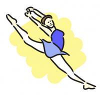 blue dance clip art