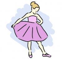 pink dance clip art