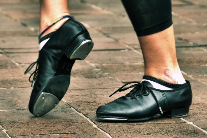 Tap dancer shoes