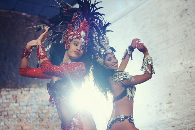 Brazilian samba dancers performing