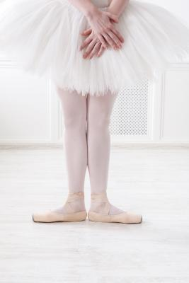 Ballerina in first position