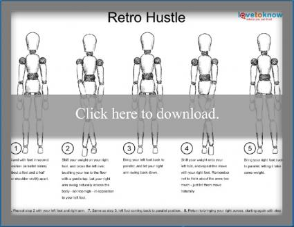 retro hustle dance diagram