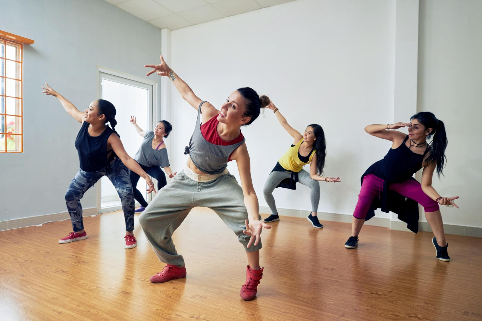 Hip-Hop Dancers Having Training