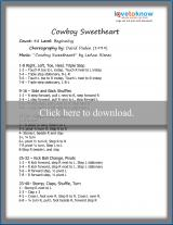 Cowboy Sweetheart Dance Steps