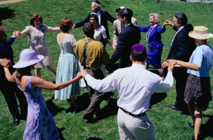 Hava Nagila dance at Jewish wedding