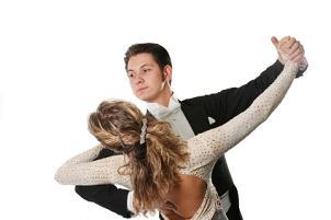 Ballroom dancing couple posing