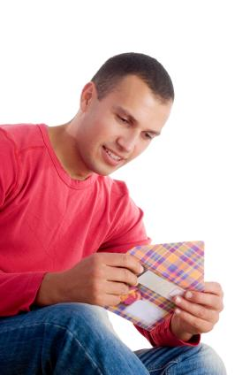 Reading a sweet love note