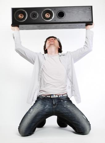guy with boom box