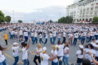 huge flash mob