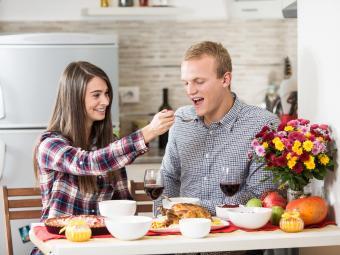 feeding boyfriend