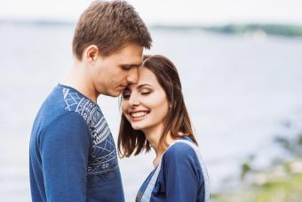 Young couple feeling happy