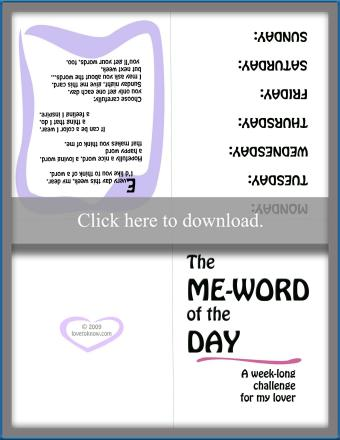 The Me-Word of the Day Game