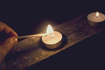 Lighting a candle
