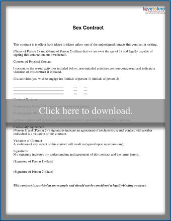 Sex contract example