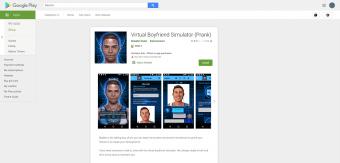 Screenshot of BoyBot My Virtual Boyfriend App