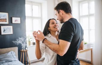 soulmates dancing at home