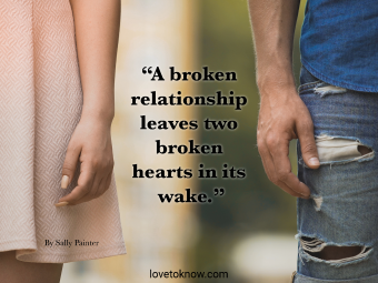 Broken Relationship Quote With Couple Apart