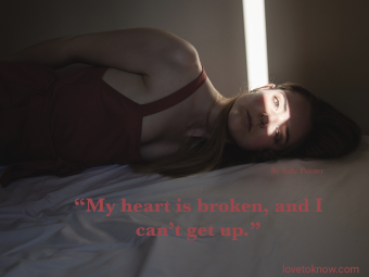 Sad Relationship Quote With Sad Woman In Bed