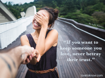 Relationship Trust Quote For Inspiration With Couple