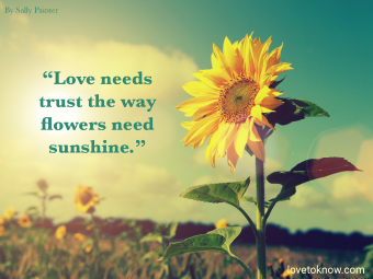 Trust Relationship Quote Of Encouragement With Sunflower In The Sun