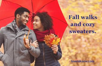 Seasonal date night captions for outdoor fun