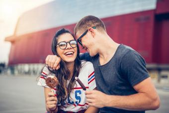 couple enjoy outdoors