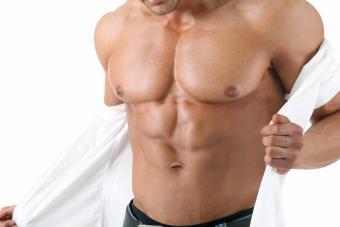 Man taking his shirt off