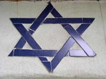 Image of a blue Jewish star symbol
