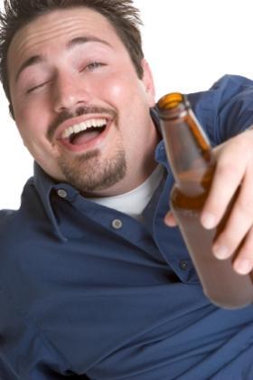 drunk man talking