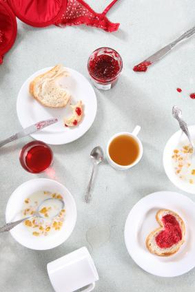 Valentine theme breakfast